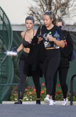Sofia Richie and Lottie Moss get a group workout in with friends at yoga studio