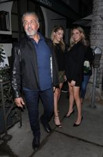 Sophia Stallone and Sistine Stallone at Madeo restaurant in Beverly Hills