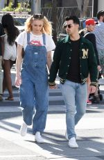 Sophie Turner Shopping at Louis Vuitton and Versace in Beverly Hills