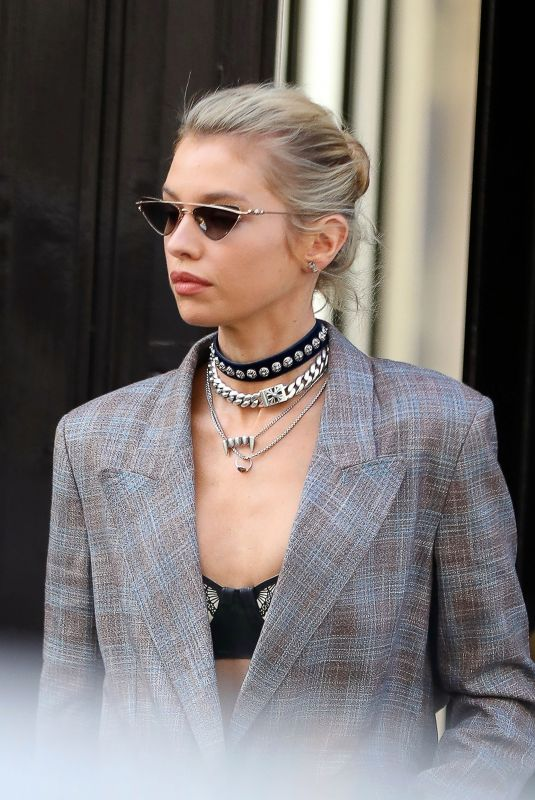 Stella Maxwell Arriving at Etro in Milan
