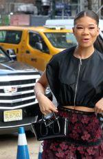 Storm Reid Attends Longchamp during New York Fashion Week in New York City