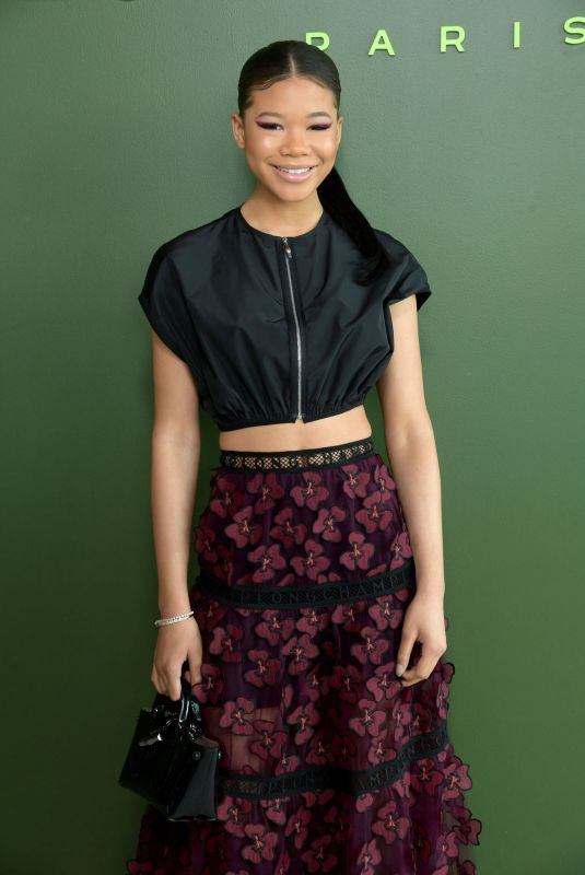 Storm Reid Attends the Longchamp fashion show during New York Fashion Week