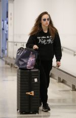 Suki Waterhouse Is pictured arriving at Los Angeles Airport