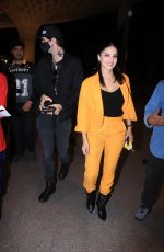 Sunny Leone and her husband arriving at Mumbai airport