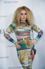 Tallia Storm At Atelier Zuhra Show during London Fashion Week AW20 at the Royal Opera House