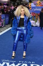 Tallia Storm At UK premiere of Onward at Curzon Mayfair in London