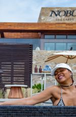 Taraji P. Henson Shows off her stunning figure at Nobu Hotel in Los Cabos in Mexico