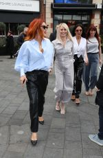 The Pussycat Dolls Arriving at the Global Radio Studios in London