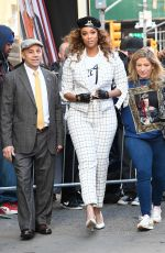 Tyra Banks Outside Good Morning America in NYC
