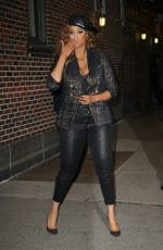 Tyra Banks Serves a few poses after her appearance on The Late Show With Stephen Colbert in NYC