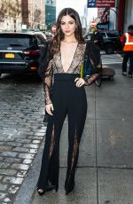 Victoria Justice Arriving at the Pamella Roland fashion show in New York