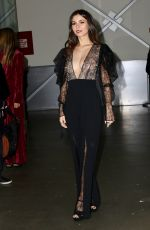 Victoria Justice Posing backstage at the Pamela Roland Fashion Show in New York