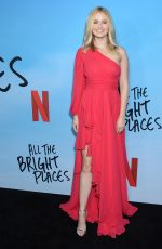 Virginia Gardner At Netflix All The Bright Places Special Screening in Hollywood