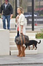 Vogue Williams and her Dog Winston spotted leaving ITV Studios