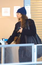 Zendaya Coleman At JFK airport with her staff and bodyguard in New York