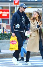 Zendaya Coleman Having fun with a friend on the street in Soho