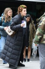 Zosia Mamet On the set Of HBO