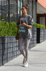 Alessandra Ambrosio Heading to her Pilates class in Los Angeles