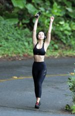 Alexis Ren Heads out for run while in Hawaii