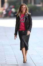 Amanda Holden Out in London