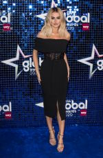 Amber Davies At The Global Awards 2020 with Very.co.uk at Eventim Apollo, Hammersmith in London