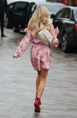 Amber Davies Seen outside the ITV studios in London