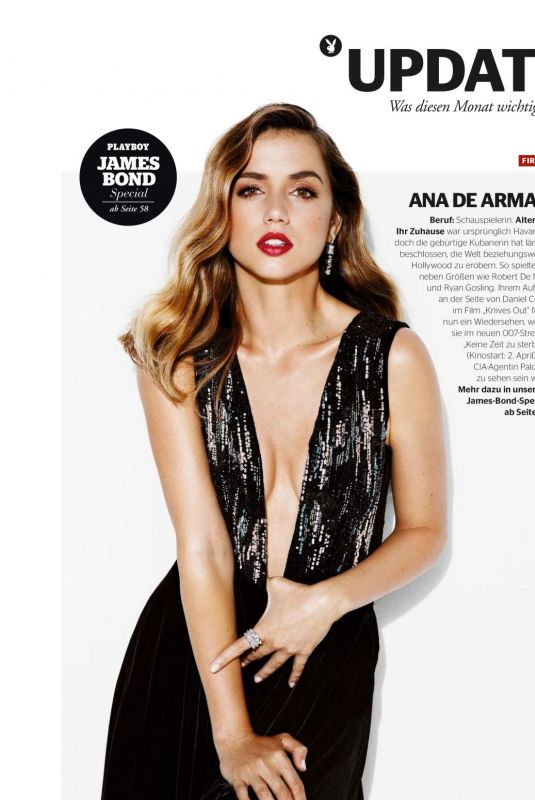Ana de Armas - Playboy Magazine Germany, April 2020