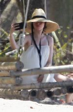 Ana de Armas Taking selfies at the beach while vacationing in Costa Rica