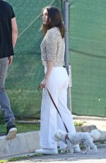 Ana de Armas Walking her dog in Pacific Palisades