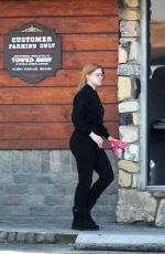 Ariel Winter Outside a vet