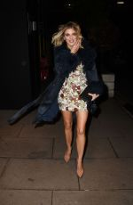 Ashley James Outside the Fekkai masterclass and cocktail party in London
