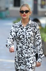 Ashley Roberts Outside Heart Radio in London