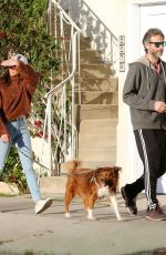 Aubrey Plaza and Jeff Baena get some Fresh Air with their dogs