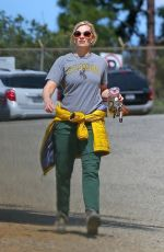 Beth Behrs Hiking in Hollywood Hills