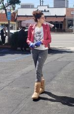 Blanca Blanco Out and about taking care of errands at Fedex