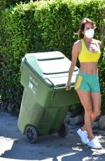 Brooke Burke Takes out the garbage before doing a live interview - Malibu