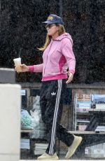 Caitlyn Jenner Enjoys a short walk in the rain during a downpour in Malibu