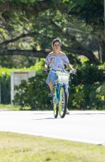 Camila Cabello and Shawn Mendes enjoy a bicycle ride in Miami