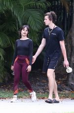 Camila Cabello & Shawn Mendes Seen on a morning walk in Miami