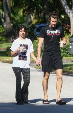 Camila Cabello & Shawn Mendes Step our for a morning walk in Coral Gables, Florida