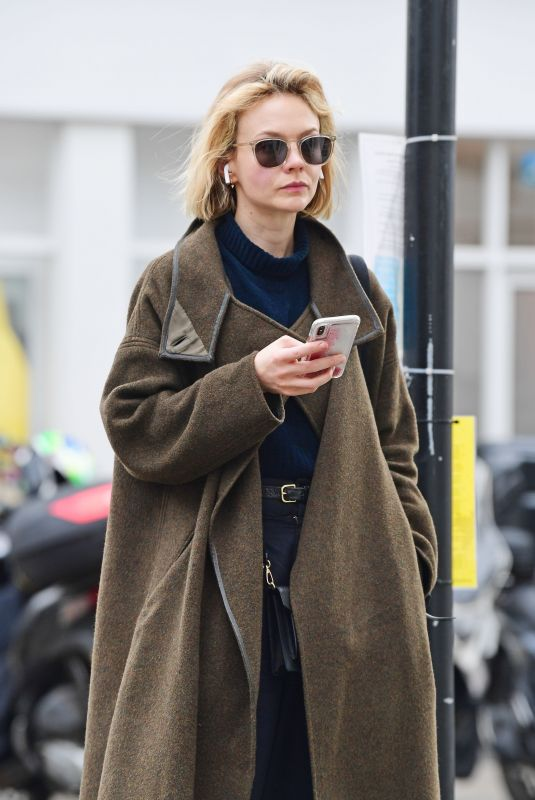 Carey Mulligan Out in Notting Hill dressed from head to toe in designer labels
