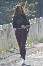Charlotte Crosby Was a bit wind swept whilst crossing a bridge close to her home in Sunderland