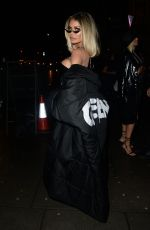 Chloe Sims Seen at Hard Rock Hotel Oxford Street in London