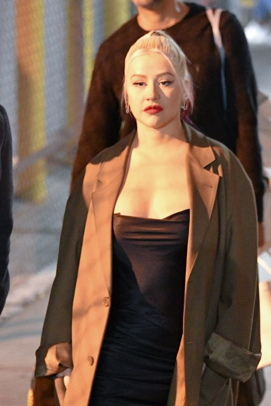 Christina Aguilera At Jimmy Kimmel Live in Los Angeles