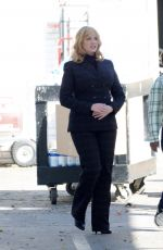 Christina Hendricks Spotted on the set of Good Girls filming in Los Angeles