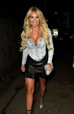 Christine McGuinness At The Manchester Arena to watch The Blast Off Tour in Manchester