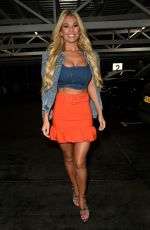 Christine McGuinness Leaving the Kisstory Presents The Blast Off Tour in Liverpool