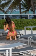 Claudia Romani and Argentinian Instagram sensation Cloe Greco were seen at the pool
