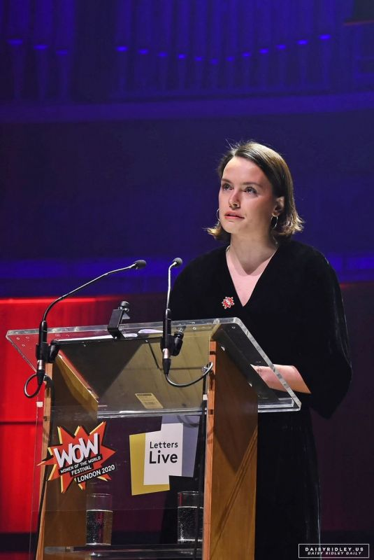 Daisy Ridley Letters live at Wow festival