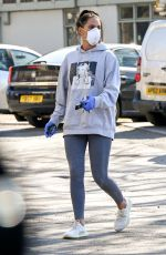 Danielle Lloyd In full protection mode spotted buying a few essentials during the Coronavirus pandemic